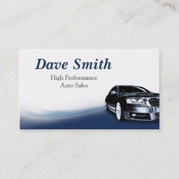 automotive sales & service business card