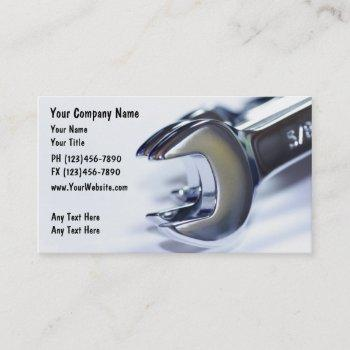 automotive tools theme business card