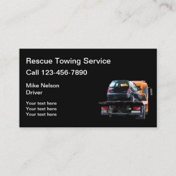 automotive towing and wrecker service business card