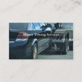 automotive towing business cards