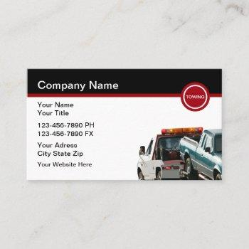 automotive towing tow truck business cards