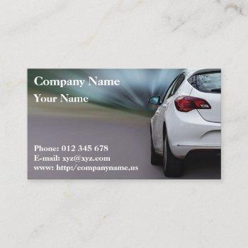 automotive trade. business card