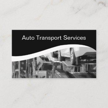 automotive transport courier business card