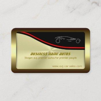 autotrade car - silver sportscar on gold-effect business card