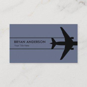 aviation aircraft business card