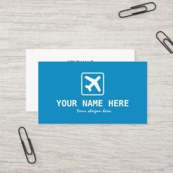 aviation theme airplane business card template