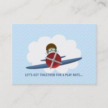 aviator and his plane calling card