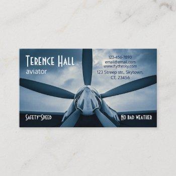 aviator safety speed customizable business card