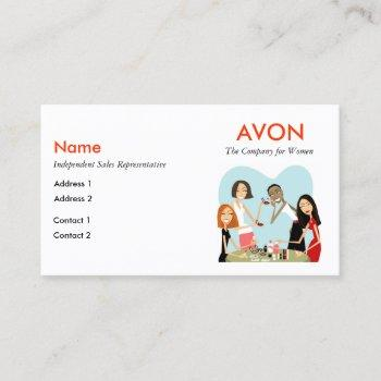 avon business cards with social media info