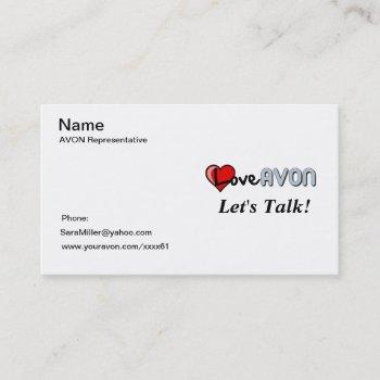 avon bussiness card