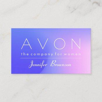 avon hologram colorful pink blue makeup represent business card