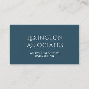 azure blue white modern elegant classic business card