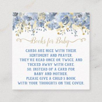 baby blue gold watercolor book request cards