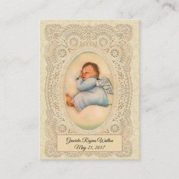 baby boy baptism  remembrance holy card