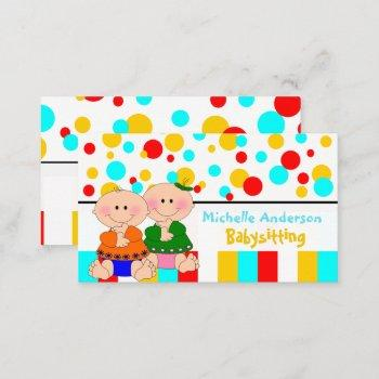 baby care & shop business card