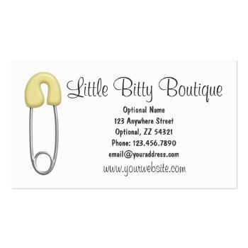 Small Baby Clothing Clothesline Infants Sewing Boutique Business Card Back View