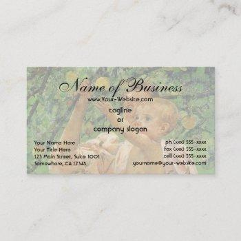 baby reaching for an apple by mary cassatt business card