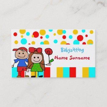 babysitter,babysitting, nursery school .... business card