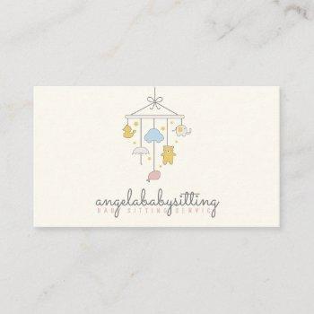 babysitter, daycare, nursery, child, teacher, kids business card
