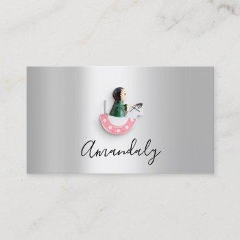 babysitter nanny professional child daycare cute business card