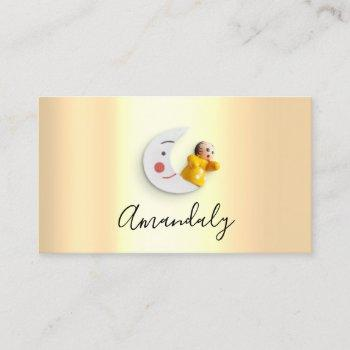 babysitter nanny professional child daycare moom business card