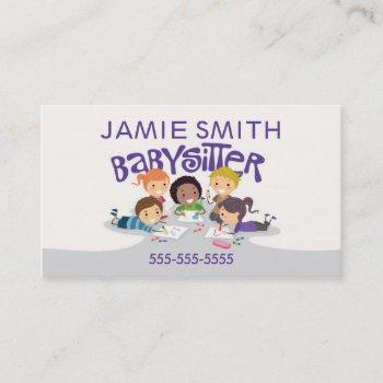 babysitter professional business card
