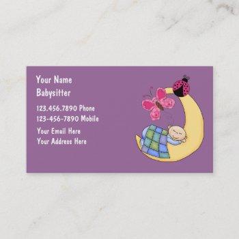 babysitting business cards