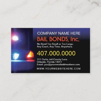 bail bonds customizable business card template