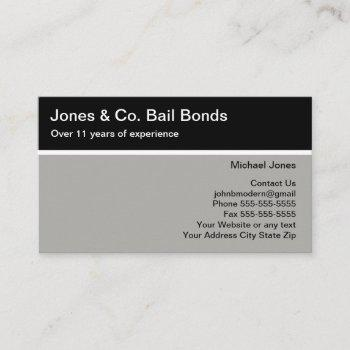 bail bonds two side modern business cards
