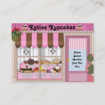 bake shop style  business card