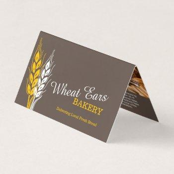bakers wheat brown yellow delivery business menu