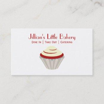 bakery red velvet cupcake business card