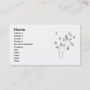 bamboo-2, name, address 1, address 2, contact 1... business card