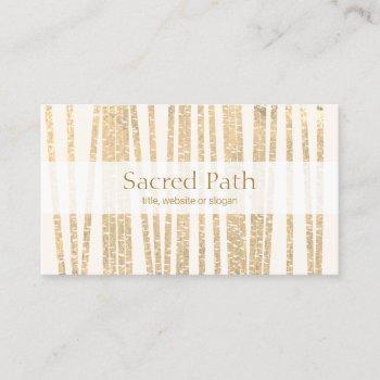bamboo alternative medicine and natural wellness business card
