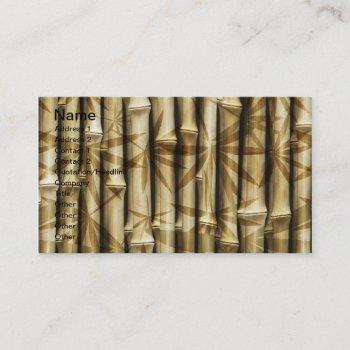 bamboo design business card