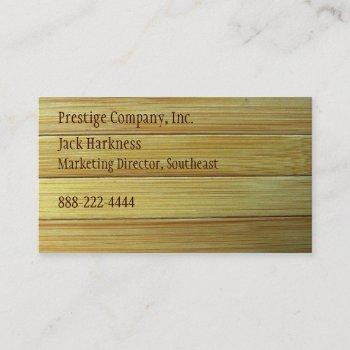 bamboo texture business card