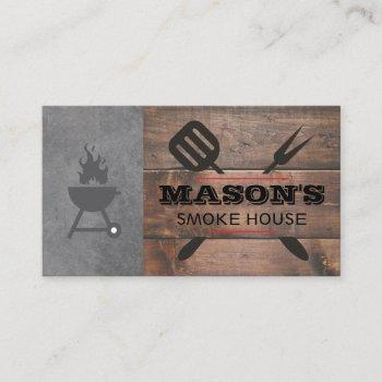 barbecue wood | grill master | executive chef business card