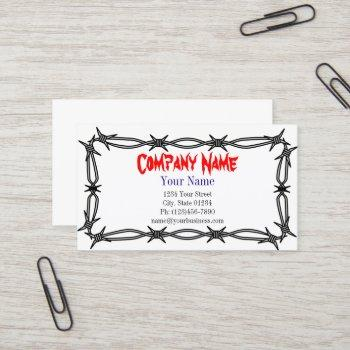 barbed wire single sided business card template
