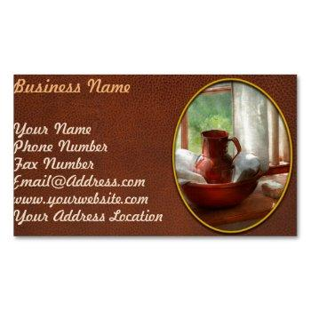 barber - morning habits business card magnet