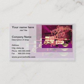 barbershop mirror template business card