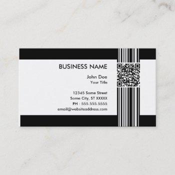barcode qr code business card