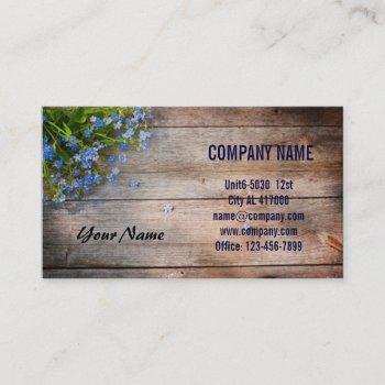 barn wood  flower botanical nature florist business card