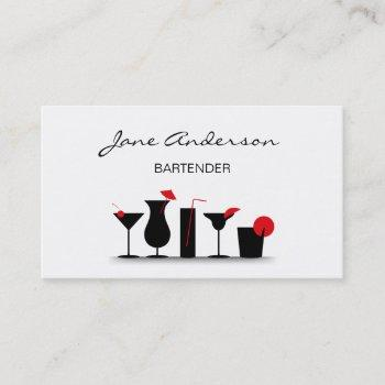 bartender cocktail party set business card