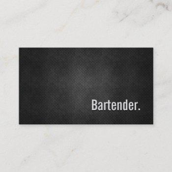 bartender cool black metal simplicity business card