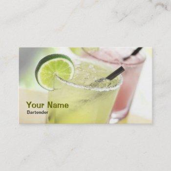 bartender margarita business card