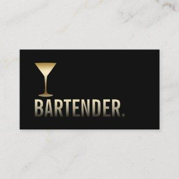bartender modern gold wine bar minimalist business card