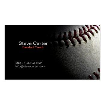 Small Baseball Coach Or Player Fitness Sport Card Front View