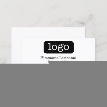 basic business design logo and contact information business card
