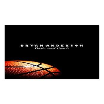 Small Basketball Coach Business Card Front View