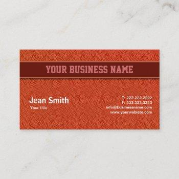 basketball leather texture coach business card